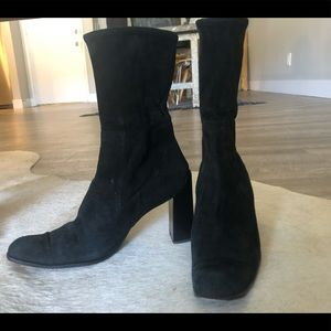 Prada suede ankle boot 90's